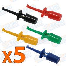 Lote 5 Puntas de prueba varios colores clip test hook 1,7 4 gancho pinza