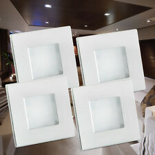 4X12V Cool White LED Square Cabin Down Ceiling Light Caravan RV Marine roof Lamp