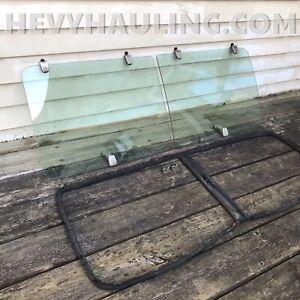 Pop-out Vented SIDE Window Kit 71-77 Dodge Van Plymouth Mopar Factory Glass B