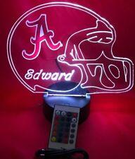 Alabama Crimson Tide NCAA Football Light Up Lamp LED Remote Personalized Free