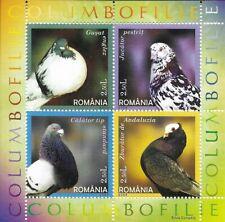 ROMANIA Birds  MiniSheet of 4 MINT NH