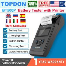 TOPDON BT500P Car Battery Tester Analyzer Cranking Charging System Test 12V/24V