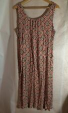Red and Dark Brown Spotted Sleeveless Summer Dress, Colorado, Size 14