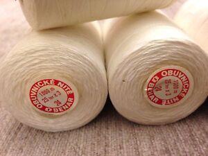 2 x 75Gr. Garn 1000 meter Baumwolle Polyester Garn stärke 25/3 RESTPOSTEN