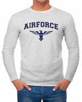 Herren Longsleeve Airforce US Army Adler Militär Langarm-Shirt Fashion