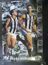 THE ROCCA BROTHERS, COLLINGWOOD FC POSTER- VERY RARE.