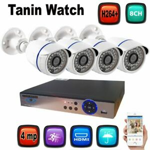 4k 4 mp dvr 4 camera package 720p  night vision water proof