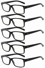 Spring Hinges Vintage Reading Glasses 5-pack Men
