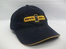 Here's Johnny Portable Toilets Hat Blue Hook Loop Baseball Cap