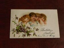 ORIGINAL FRANCES BRUNDAGE SIGNED TUCK CHILDREN POSTCARD - CRYING GIRLS, No. 1545
