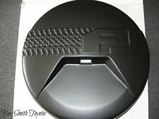 NEW OEM TOYOTA FJ CRUSIER SPARE TIRE COVER MODELS WITH BACK UP CAMERA .