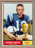 Johnny Unitas '56 Baltimore Colts Monarch Corona Rookie All Star #1
