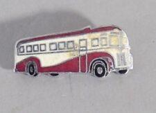 Original Vintage Enamel BUS DRIVER Hat Or Cap Badge Pin 1940s BUS