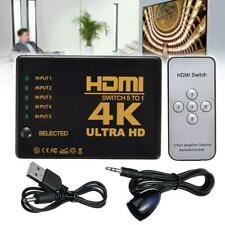 5 Port 1080P HDMI Switch Switcher Selector Splitter+ Remote For HDTV PS3 DVD