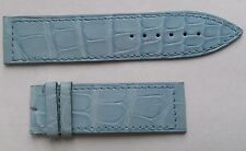 New Franck Muller blue crocodile leather strap band 22 mm width.