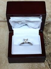 Blue Nile Platinum Princess Cut Diamond Solitaire Ring 7 1 Ct tw Carat VS1 I.G.I