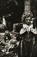 1977 Vintage HELMUT NEWTON Cemetery Female Fashion Paris Duotone Photo Art 12X16