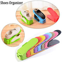 Multi-Colored Display Shoes Organizers Rack Space-Saving Plastic Storage Closets