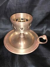 Solid brass candle stick holder With 4 1/2 Inch Grip Plate And Finger