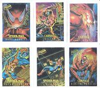 1995 SPIDER-MAN FLEER ULTRA MARVEL MASTERPIECES COMPLETE 9 CARD INSERT CHASE SET