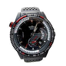 Men's Luxury Black Automatic Mechanical Date Day Sport Analog Wrist Watch NEW