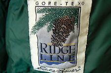 EDDIE BAUER 'RIDGE LINE' 'GORE-TEX' GOOSE DOWN JACKET-WOMEN XL-GREEN-LOGO SNAPS