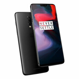 "OnePlus 6 Black 8GB/128GB 6.28"" Dual16 + 20 MP Octa Core Phone CN FREESHIP"
