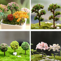 2 X Miniature Sakura Tree Plants Fairy Garden Accessories Dollhouse OrnamentX Uf