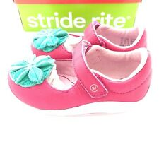 STRIDE RITE 6 New In The Box SRTech Mary Jane Toddler Lana Pink Turquoise Shoes