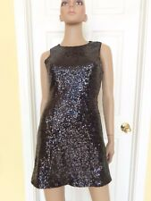 ESLEY black sequined holiday party dress size S backless