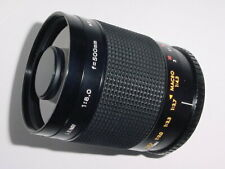 T-MOUNT CENTON 500mm F/8.0 MIRROR MANUAL FOCUS LENS + Yashica / Contax AD * mint
