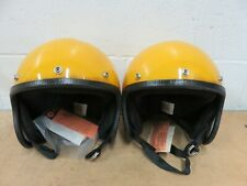 589b7c71 Lot/ 2 Vintage NIB Allsport Yellow Poly Open Face Large Motorcycle Helmet  NOS