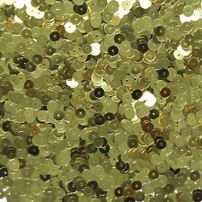 6mm Flat Loose Sequin Paillette Metallic Gold Green Hue Made in USA