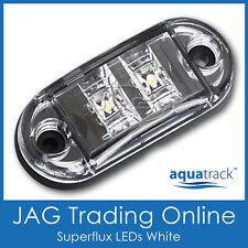 12V SUPERFLUX LED WHITE MARKER LAMP - Trailer/Truck/Boat/Caravan Clearance Light