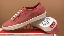 Vans Atwood Lite Chambray True Red/White Women's Skate Casual Shoes Size 10