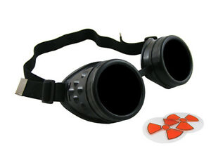 Black Cyber Goggles Steampunk Welding Goth Cosplay Cyberlox Cybergoth