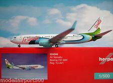 Herpa Wings 1:500 Boeing 737-800 Air VANUATU yj-av1 524346