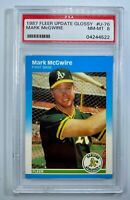1987 Fleer Update Glossy Mark McGwire RC PSA NM-MT 8 Rookie Card #U-76 MLB
