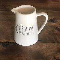 "NEW Rae Dunn CREAM Large Letter Creamer Pitcher Ceramic by Magenta 4.75""H"