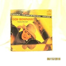 1964 Don Bowman Our Man in Trouble RCA Victor LP 33 Vinyl Record LPM 2831 Folk