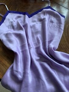 August Silk Lilac Silk Chemise/camisole. 40bustx29length