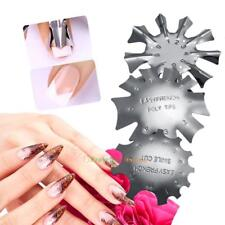 3pcs Nail Cutter Smile Line Edge Trimmer French Tips Template Manicure Tools Pro