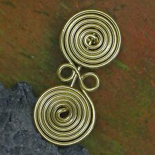 tolle Messing Spiralfibel Brillenfibel Bronzezeit 1000 v.Chr. Etrusker  Kelten