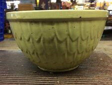Vintage Yellow McCoy Pottery Fish Scale Pattern Mixing Bowl 8""