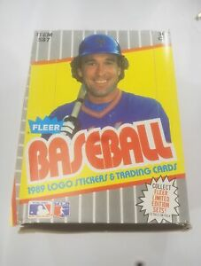 1989 Fleer Baseball Box with Unopened Packs