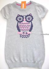 Gymboree Fairy Tale Forest Sweater Dress Size 10 New Gray Owl Girls Fall
