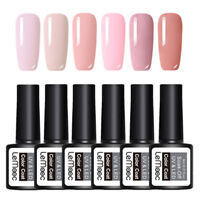 LEMOOC 6Boxen 8ml Nagel Gellack Gel UV Soak Off Nail Art UV Gel Polish Pink Lot