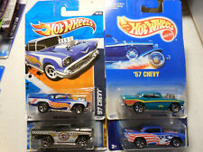 Hot Wheels '57 Chevy Lot of 4 STAR SPANGLED TAXI HW RACING BLUE BLACK FREE SHIP