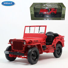WELLY 1:18 Jeep Willys Diecast Model Car Collection Army Military Truck Vehicles