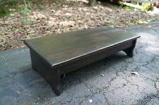 """Handcrafted Heavy Duty Wooden Step Stool, 6"""", 7"""" or 8"""" tall, 14 x 24"""" pick stain"""